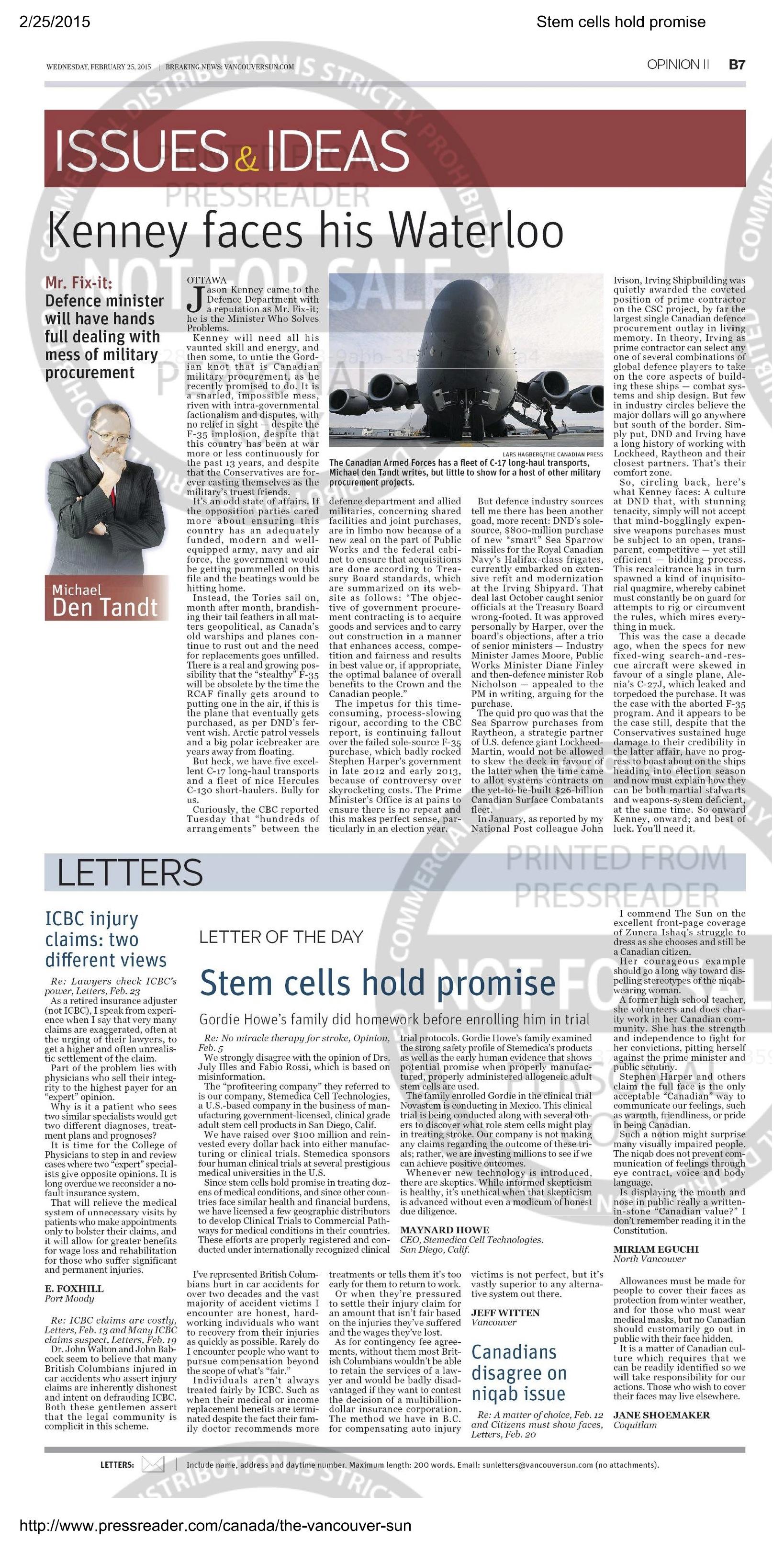 Stem cells hold promise
